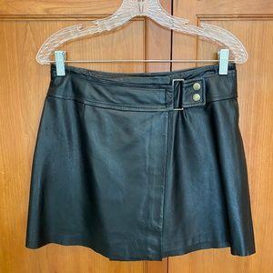 Hugo Buscati Black Leather Mini Skirt / 6